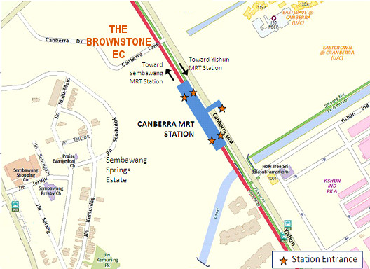 The Brownstone EC Location @ Canberra MRT Station