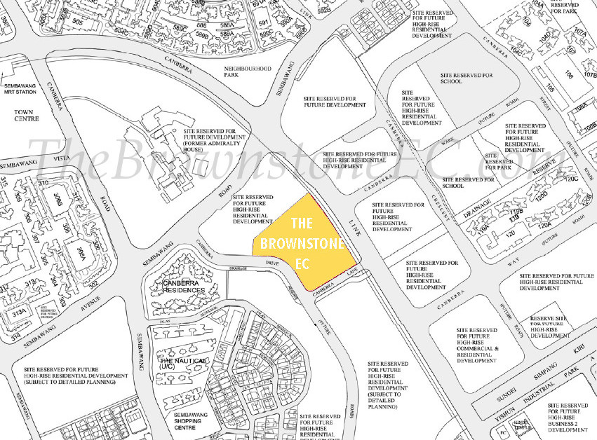 The Brownstone EC Location Map :: Canberra EC Location
